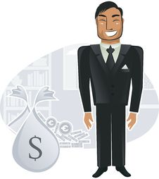 Free Rich Worker In The Office (vector) Stock Photo - 19922110