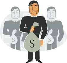 Free I Have Got Much Money (vector) Royalty Free Stock Image - 19922116