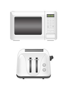 Microwave And Toaster Royalty Free Stock Photo