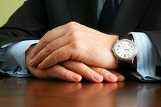 Free Hands Of Businessman Royalty Free Stock Photography - 19923167