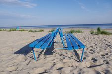 Free Blue Bench Stock Photos - 19923353
