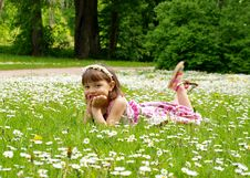 Free Girl Lying On The Grass Stock Photography - 19924082