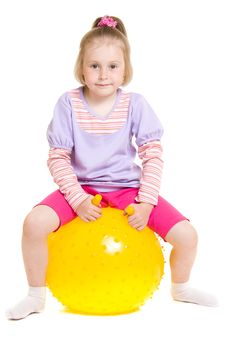 Free Girl With A Ball Stock Image - 19924271