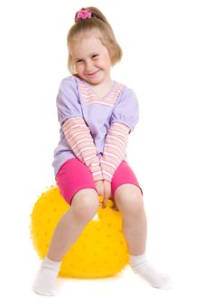 Free Girl With A Ball Royalty Free Stock Photo - 19924275