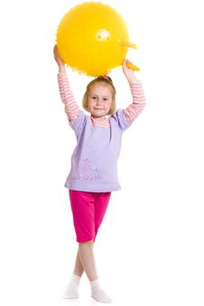 Free Girl With A Ball Royalty Free Stock Photos - 19924288