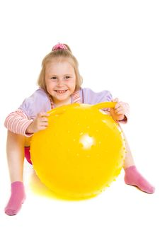 Free Girl With A Ball Royalty Free Stock Photography - 19924337