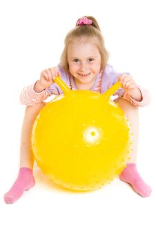 Free Girl With A Ball Stock Images - 19924354