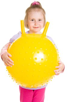 Free Girl With A Ball Royalty Free Stock Photography - 19924357