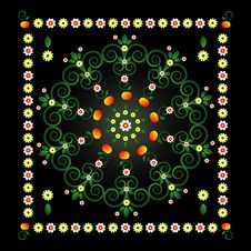 Free Circle Pattern With Flower Royalty Free Stock Photo - 19924885