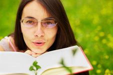 Free Woman With A Book Stock Image - 19924971