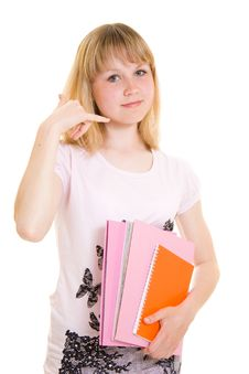 Free Teenager With Books Royalty Free Stock Images - 19925039