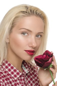 Free Woman With Rose Stock Photography - 19925192
