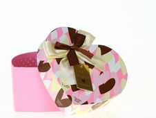 Free Gift Heart Pink Box Royalty Free Stock Images - 19925289