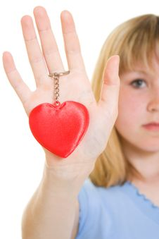 Free A Girl With A Heart Royalty Free Stock Photography - 19925307