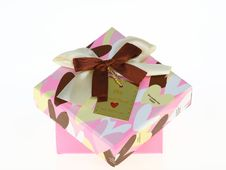 Gift Pink Box Royalty Free Stock Photos