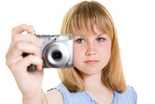 Free A Teenager With A Camera Royalty Free Stock Photography - 19925457