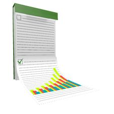 Notebook With The Diagram Royalty Free Stock Photo
