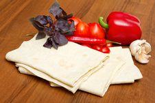 Free Pita Bread And Fresh Vegetables Stock Photos - 19925773