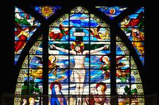 Free Colorful Stained Glass Window Royalty Free Stock Photography - 19925857