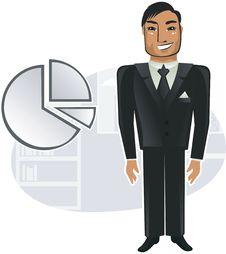 Free Happy Businessman In Vector Stock Photos - 19926023