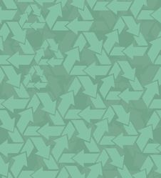 Free Recycle Sign Seamless Pattern In Vector Stock Images - 19926034