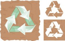 Free Recycle Sign In Vector Royalty Free Stock Photography - 19926037