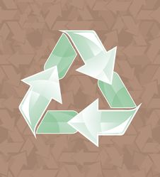 Free Recycle Sign  Background In Vector Stock Photo - 19926040
