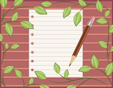 Free Blank Paper With A Pencil Stock Images - 19926214