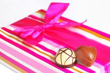 Free Chocolate Candies And Gift Box Stock Photo - 19926270