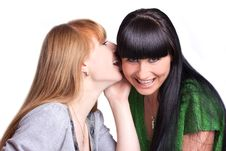 Free Two Smiling Girl-friends Stock Photos - 19926723