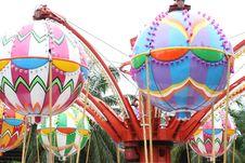 Free Amusement Park As A Balloon. Royalty Free Stock Photo - 19926985
