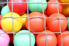 Free Rope Net With Colorful Ball Royalty Free Stock Photography - 19927107