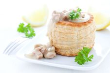 Ragout Fin In Puff Pastry Stock Images