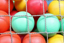 Free Rope Net With Colorful Ball Royalty Free Stock Images - 19927129