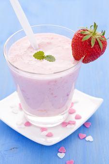 Free Fresh Strawberry Shake Stock Image - 19927301