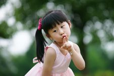 Free Chinese Lovely Girl Stock Image - 19928351
