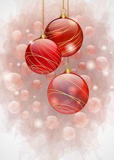 Free Red Christmas Balls Stock Photo - 19928420