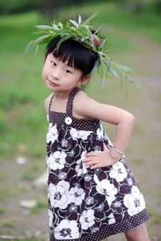 Free Chinese Lovely Girl Royalty Free Stock Photos - 19928448