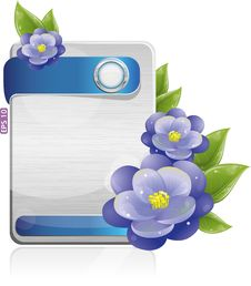 Free Metal Form With Violet Flowers Stock Images - 19928464