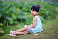 Free Chinese Lovely Girl Royalty Free Stock Photos - 19928808