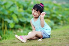 Free Chinese Lovely Girl Royalty Free Stock Image - 19928836