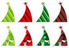 Free Contemporary Christmas Tree Collection Stock Image - 19929081
