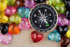 Free Compass And Hearts Stock Photos - 19929093