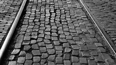 The Paver Stones At The Fort Worth Stock Yard Train Station. Royalty Free Stock Images
