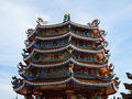 Free Chinese Temple With Blue Sky In Chonburi Thailand Royalty Free Stock Photography - 19931097