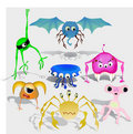 Free Vector Set Of Aliens Royalty Free Stock Image - 19932466