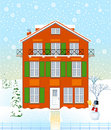 Free House In The Winter Time Royalty Free Stock Photography - 19934747