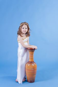 Free Beautiful Girl In The Dress Of The Goddess Royalty Free Stock Image - 19930076