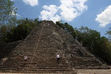 Climbing Nohoch Mul, Coba, Mexico Stock Photo
