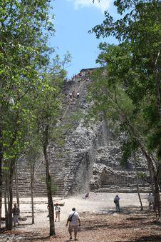 Climbing Nohoch Mul, Coba, Mexico Stock Photos